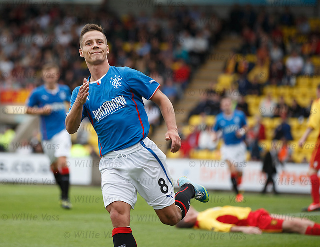 Ian Black celebrates his goal for Rangers