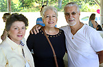 WATERBURY CT. 23 September 2017-092317SV15-From left, Judy Ferrelli of Waterbury, Sandy and Fran Onofreo of Wolcott attend the Sacred Heart High School 95th Anniversary picnic at LaBella Vista pavilion in Waterbury Saturday. <br /> Steven Valenti Republican-American