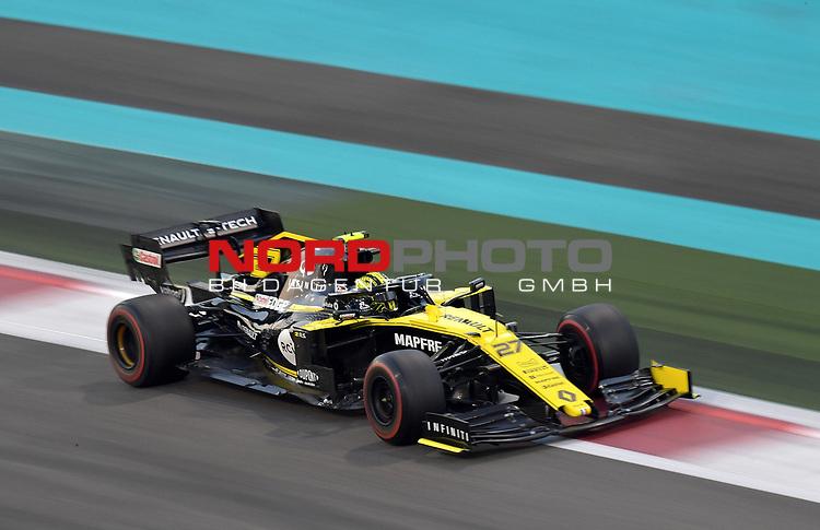 01.12.2019, Yas Marina Circuit, Abu Dhabi, FORMULA 1 ETIHAD AIRWAYS ABU DHABI GRAND PRIX 2019<br />, im Bild<br />Nico Hülkenberg (GER#27), Renault F1 Team<br /> <br /> Foto © nordphoto / Bratic