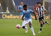 Calcio, Serie A: Lazio vs Udinese. Roma, stadio Olimpico, 13 settembre 2015.<br /> Lazio&rsquo;s Keita Diao, right, is chased by Udinese's Panagiotis Kone during the Italian Serie A football match between Lazio and Udinese at Rome's Olympic stadium, 13 September 2015.<br /> UPDATE IMAGES PRESS/Isabella Bonotto