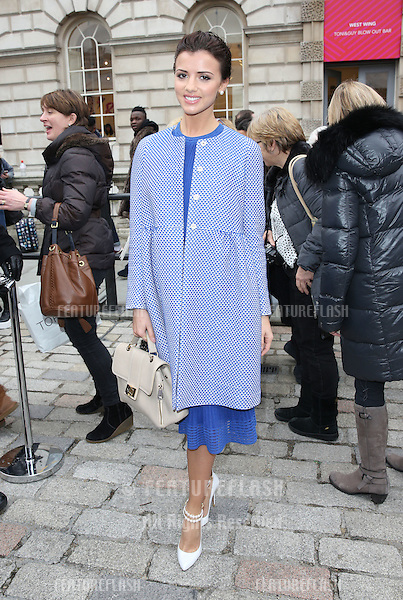 Lucy Mecklenburgh arriving at London Fashion Week, (LFW15) at Somerset House, London. 20/02/2015 Picture by: James Smith / Featureflash