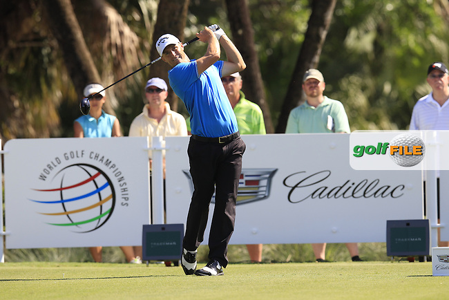Alex Noren (SWE) during the 1st round at the WGC Cadillac Championship, Blue Monster, Trump National Doral, Doral, Florida, USA<br />