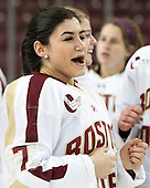 Kristyn Capizzano (BC - 7) - The Boston College Eagles celebrate winning the 2014 Beanpot championship on Tuesday, February 11, 2014, at Kelley Rink in Conte Forum in Chestnut Hill, Massachusetts.
