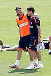 MADRID (25/05/09).- The Spanish Soccer national training session.  Sergio Ramos and Joan Capdevila...PHOTO: Cesar Cebolla / ALFAQUI