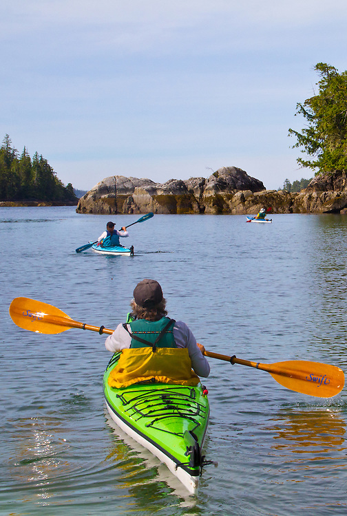 Vancouver Island, Stud Islets, Barkley Sound, Deer Group, British Columbia, Canada, sea kayakers, wilderness coast,