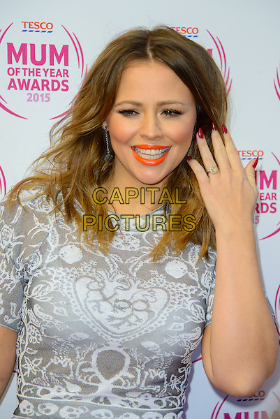 LONDON, ENGLAND - MARCH 01: Kimberley Walsh attends the Tesco Mum Of The Year Awards 2015 at the Savoy Hotel, on March 01, 2015 in London, England. <br /> CAP/JC<br /> &copy;JC/Capital Pictures
