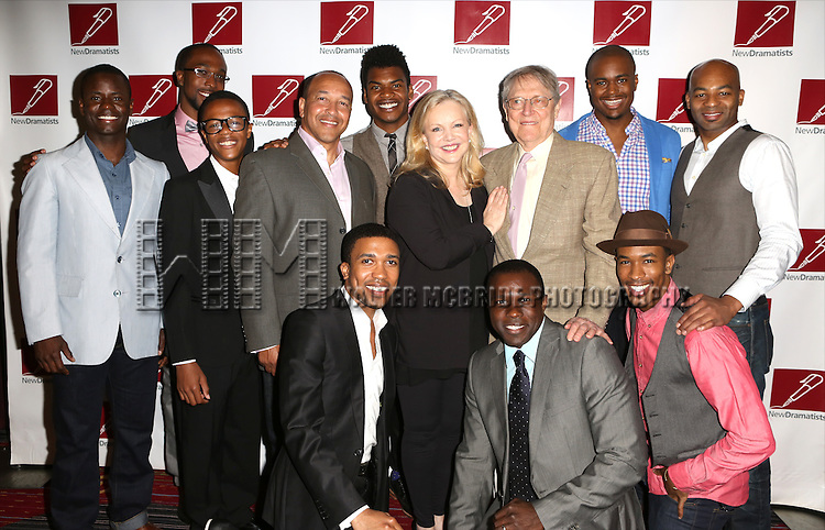 Director Susan Stroman poses with the cast of 'The Scottsboro Boys' attending the New Dramatists salutes Susan Stroman  on May 22, 2014 in New York City.