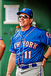 22 September 2018: New York Mets AA Manager Tony DeFrancesco awaits the start of play against the Washington Nationals at Nationals Park in Washington, DC. The Nationals shut out the Mets 6-0 in the 3rd game of their 4-game series. Mandatory Credit: Ed Wolfstein Photo *** RAW (NEF) Image File Available ***