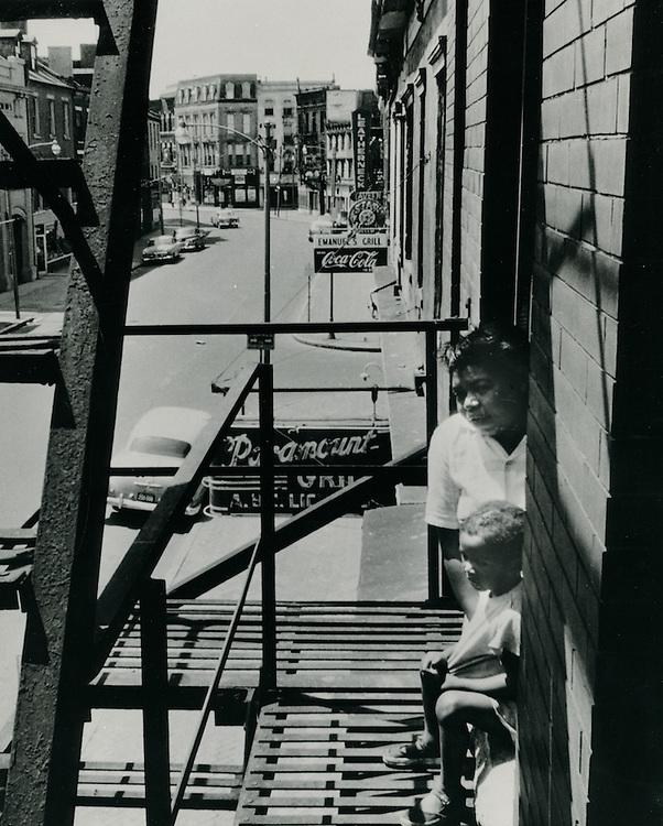 1958 Spring..Redevelopment.Downtown South (R-9)..East Main Street..Neal Clark Jr..NEG# .NRHA# 3569..