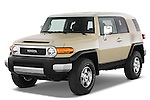 Front three quarter view of a 2008 Toyota FJ Cruiser.