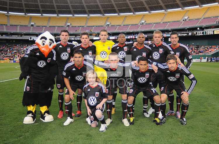 DC United team photo. The Chicago Fire defeated DC United 2-0 at RFK Stadium, Saturday April 17, 2010.
