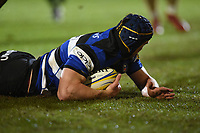 Paul Grant of Bath Rugby scores a second half try. Aviva Premiership match, between Bath Rugby and Exeter Chiefs on March 23, 2018 at the Recreation Ground in Bath, England. Photo by: Patrick Khachfe / Onside Images