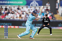 Jonny Bairstow (England) drives through the off side during England vs New Zealand, ICC World Cup Cricket at The Riverside Ground on 3rd July 2019