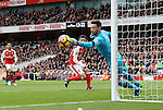 Arsenal's Granit Xhaka sees his shot saved by Tottenham's Hugo Lloris during the Premier League match at the Emirates Stadium, London. Picture date November 6th, 2016 Pic David Klein/Sportimage