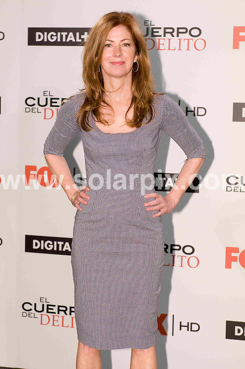 **ALL ROUND PICTURES FROM SOLARPIX.COM**                                             **WORLDWIDE SYNDICATION RIGHTS EXCEPT SPAIN & SOUTH AMERICA - NO SYNDICATION IN SPAIN OR SOUTH AMERICA**                                                                                  Caption: The actress Dana Delaney visits Spain and appears at a photo call for the Fox TV series Body Of Proof (El Cuerpo del Delito in Spanish), Madrid, Spain. 1 February 2010                                                                           This pic: Dana Delaney                                                                                             JOB REF: 12739 MPA       DATE: 01_02_2011                                                           **MUST CREDIT SOLARPIX.COM OR DOUBLE FEE WILL BE CHARGED**                                                                      **MUST AGREE FEE BEFORE ONLINE USAGE**                               **CALL US ON: +34 952 811 768 or LOW RATE FROM UK 0844 617 7637**