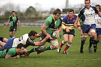 AIB Cup Final 2009. Michael Graham dives over to score the first Hinch try. Mandatory Credit - Mandatory Credit - John Dickson
