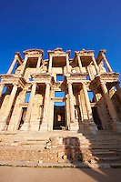 Picture & Image of The library of Celsus. Images of the Roman ruins of Ephasus, Turkey. Stock Picture & Photo art prints