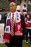 CD Chivas USA newly appointed head coach Robin Fraser before the start of the match. Sporting KC defeated CD Chivas USA 3-2 at Home Depot Center stadium in Carson, California on Saturday March 19, 2011...