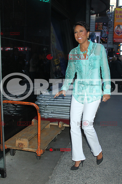 May 11, 2012 Robin Roberts host of Good Morning America seen arriving on set in New York City. Credit: RW/MediaPunch Inc.