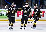 Stockholm 2014-09-27 Ishockey Hockeyallsvenskan AIK - Mora IK :  <br /> AIK:s Daniel Olsson Trkulja har gjort 2-0 och gratuleras av lagkamrater<br /> (Foto: Kenta J&ouml;nsson) Nyckelord:  AIK Gnaget Hockeyallsvenskan Allsvenskan Hovet Johanneshovs Isstadion Mora MIK  jubel gl&auml;dje lycka glad happy