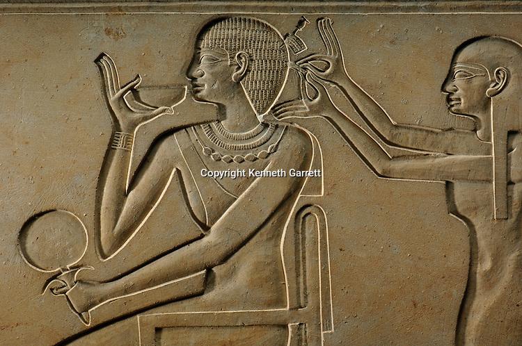 Sarcophagus of Kawit--Hair do, Princess in court of Mentuhotep II, Black Pharaohs, Nubians, Egypt, The Egyptian Museum, Cairo, Deir Al Bahari, 11th Dynasty, Middle Kingdom