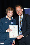 St Johnstone FC Youth Academy Presentation Night at Perth Concert Hall..21.04.14<br /> Alec Cleland presents to Igor Spurek<br /> Picture by Graeme Hart.<br /> Copyright Perthshire Picture Agency<br /> Tel: 01738 623350  Mobile: 07990 594431