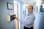 DOBBS FERRY, NY - FEBRUARY 03, 2011:  Dr. Edward Zuckerberg, D.D.S.,  father of Facebook founder Mark Zuckerberg, shows how much less radiation is needed for digital x-rays compared to film in his dental practice on February 03, 2011 in Dobbs Ferry, NY.  (Photo by Michael Nagle)