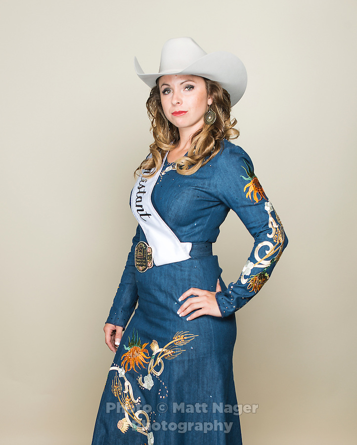 Contestant Tess Mahoney, of Woodland Park, Colorado, during the Miss Rodeo Colorado 2016 competition at the Greely Stampede in Greely, Colorado, July 2, 2015.<br /> <br /> Photo by Matt Nager