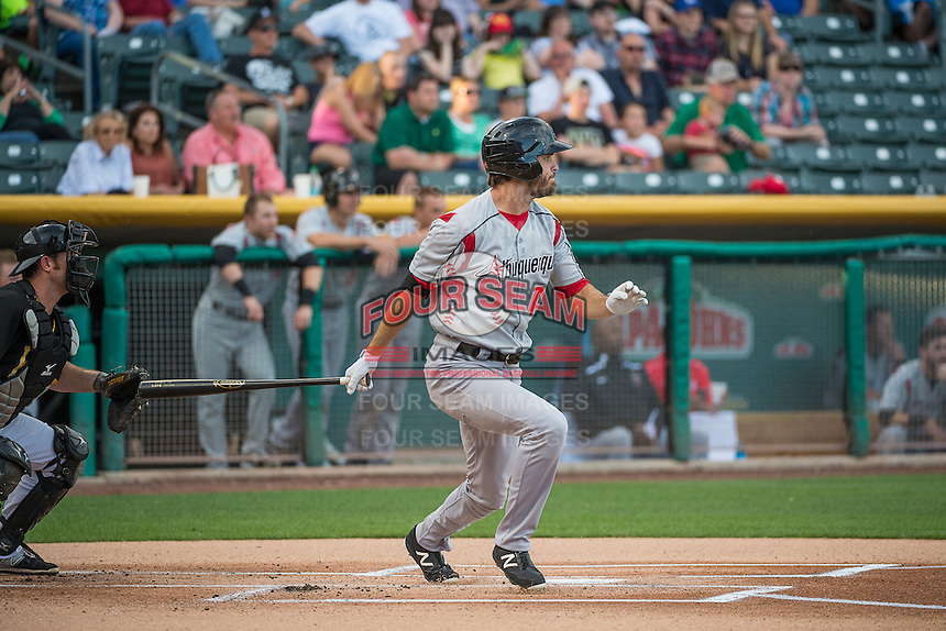 Tim Wheeler (7) of the Albuquerque Isotopes at bat against the Salt Lake Bees in Pacific Coast League action at Smith's Ballpark on June 8, 2015 in Salt Lake City, Utah.  (Stephen Smith/Four Seam Images)