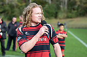 Papakura Captain Carl Raybould. Counties Manukau Under 85kg Championship final rugby game between Papakura and Pukekohe played at Navigation Homes Stadium Pukekohe, on Saturday August 10th 2019. Pukekohe won the game 13 - 12 after leading 10 - 0 at halftime.<br /> Photo by Richard Spranger.