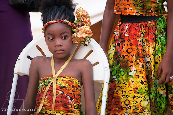 Black Rock, performers young gilr waiting to perform in her costume