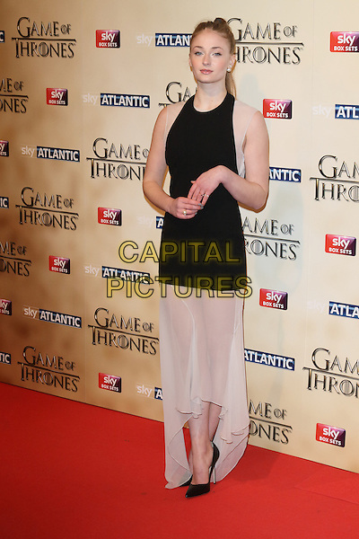 LONDON, ENGLAND - MARCH 18: Sophie Turner arrives for the world premiere of Game of Thrones Season 5 at Tower of London on March 18, 2015 in London, England<br /> CAP/ROS<br /> &copy; Steve Ross/Capital Pictures
