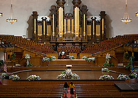 The Tabernacle, which was the original conference hall for Mormon gatherings at Temple Square in Salt Lake City, Utah, Monday, October 1, 2012. ..Photo by Matt Nager