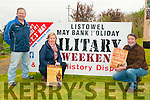 Listowel Military Weekend: Pictured to announce the Listowel Military weekend on 1st, 2nd & 3rd of May are Denis O'Carroll, PRO, Trish Mulvihill, Secretary & Damian Stack, Chairman.