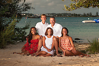 Petrofsky family at Grotto Bay