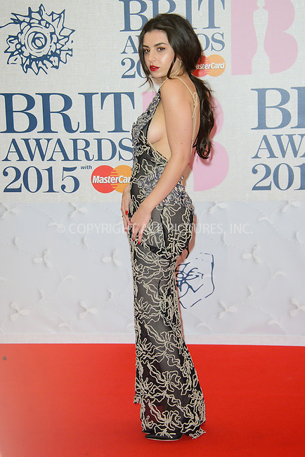 WWW.ACEPIXS.COM<br /> <br /> February 25 2015, London<br /> <br /> Charlie XcX arriving at the Brit awards 2015 at the O2 Arena on February 25 2015 in London<br /> <br /> By Line: Famous/ACE Pictures<br /> <br /> <br /> ACE Pictures, Inc.<br /> tel: 646 769 0430<br /> Email: info@acepixs.com<br /> www.acepixs.com