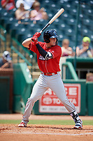 Lakewood BlueClaws designated hitter Cole Stobbe (26) at bat during a game against the Greensboro Grasshoppers on June 10, 2018 at First National Bank Field in Greensboro, North Carolina.  Lakewood defeated Greensboro 2-0.  (Mike Janes/Four Seam Images)