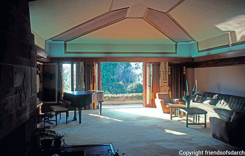 F.L. Wright: Barnsdall House--Living Room.