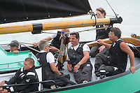 SKUTSJESILEN: SKS2013: SKS kampioenschap 2013, schipper Sneek, Douwe Jzn. Visser, ©foto Martin de Jong
