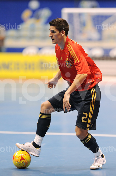 Fussball  International  FIFA  FUTSAL WM 2008   01.10.2008 Vorrunde Gruppe D Spain - Iran Spanien- Iran ORTIZ (ESP) am Ball.