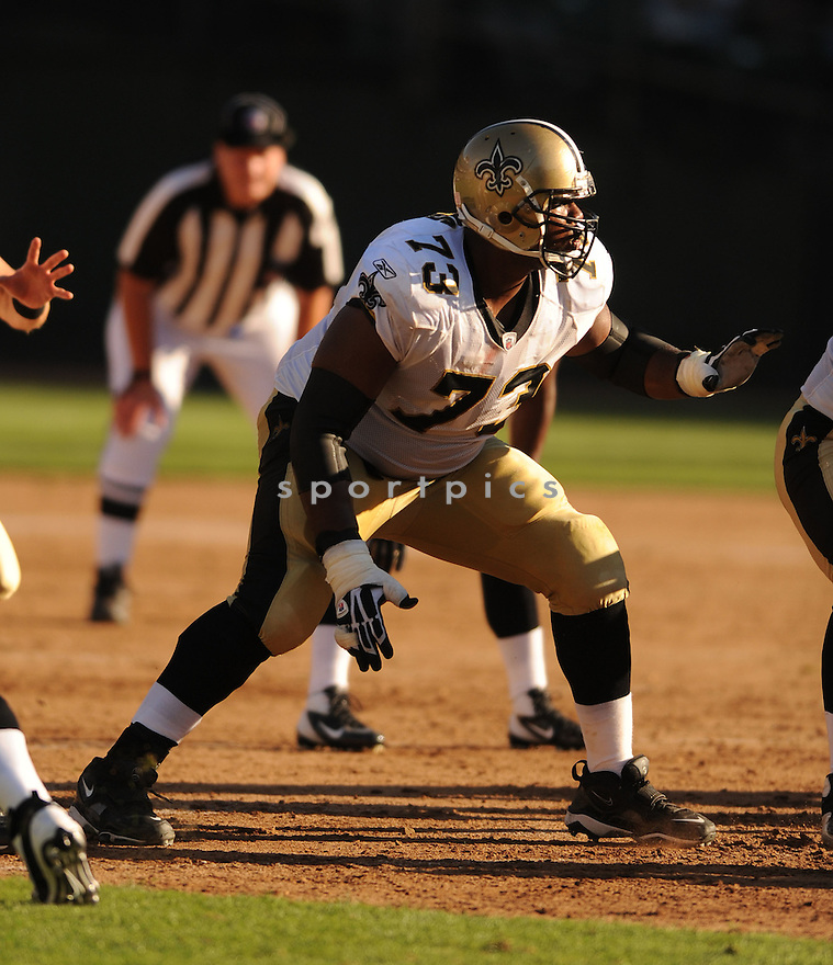 JAHRI EVANS, of the New Orleans Saints, in action during the Saints game against the Oakland Raiders on August 28, 2011 at O.co Coliseum in Oakland, CA. The Saints beat the Raiders 40-20.