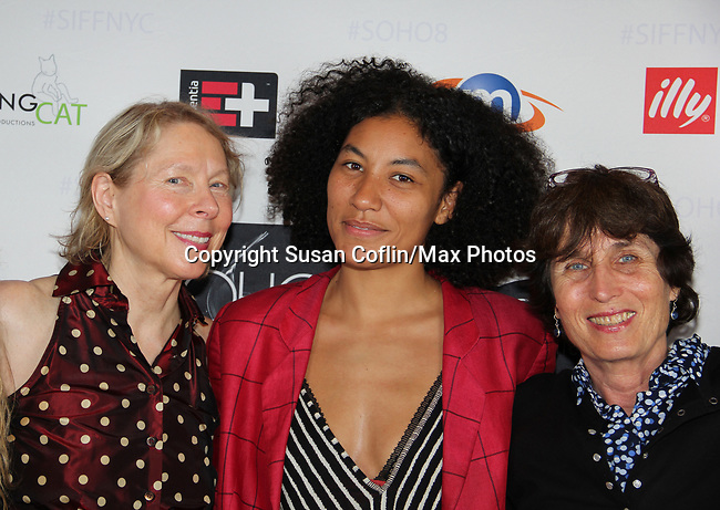 Sarah Kernochan, Naima Ramos-Chapman, Anne Makepeace at Seeing is Believing: Women Direct at its East Coast Premiere at Soho International Film Festival on June 19, 2017 in New York City, New York.(Photos by Sue Coflin/Max Photos)