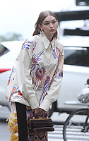 NEW YORK, NY - May 31: Gigi Hadid pictured doing a photo shoot in New York City on May 31, 2018 <br /> CAP/MPI/RW<br /> &copy;RW/MPI/Capital Pictures