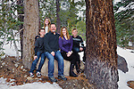Family portrait in Mammoth Lakes, California