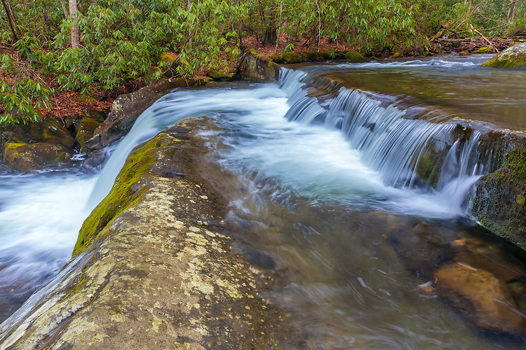 Waterfall on the Middle Prong of the Little River; Great Smoky Mountains National Park, TN