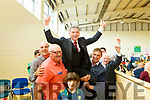 Cllr Michael O'Shea after been elected in the Corca Dhuibhne area at the Tralee Count Centre on Saturday