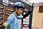 Jakob Fuglsang (DEN) Astana Pro Team at sign on before the start of the world's oldest classic the 100th edition of Milano-Torino running 179km from Magenta to the Basilica at Superga in Turin, Italy. 9th Octobre 2019. <br /> Picture: Marco Alpozzi/LaPresse | Cyclefile<br /> <br /> All photos usage must carry mandatory copyright credit (© Cyclefile | LaPresse/Marco Alpozzi)