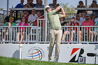 Zach Johnson (USA) watches his tee shot on 1 during 3rd round of the World Golf Championships - Bridgestone Invitational, at the Firestone Country Club, Akron, Ohio. 8/4/2018.<br /> Picture: Golffile | Ken Murray<br /> <br /> <br /> All photo usage must carry mandatory copyright credit (© Golffile | Ken Murray)