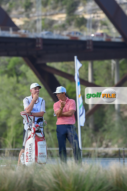 Thorbjorn Olesen (DEN) looks over his tee shot on 13 during day 3 of the WGC Dell Match Play, at the Austin Country Club, Austin, Texas, USA. 3/29/2019.<br /> Picture: Golffile | Ken Murray<br /> <br /> <br /> All photo usage must carry mandatory copyright credit (© Golffile | Ken Murray)