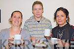 Enjoying the  Ballyspillane resource centre coffee morning in Killarney  on Friday were Teresa O'Brien, Crystal Dooley and Geraldine Doyle Dillon.